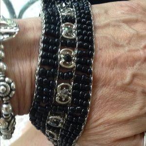 Beaded wide bracelet